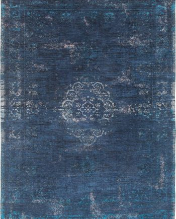 vloerkleed Louis De Poortere CA 8254 Fading World Medaillon Blue Night