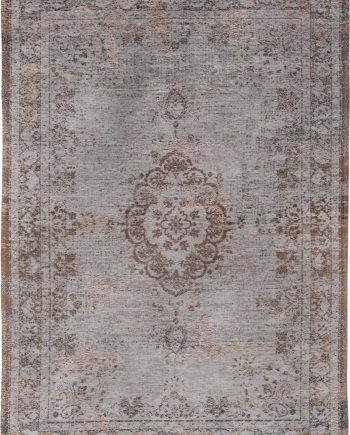 vloerkleed Louis De Poortere CA 8257 Fading World Medaillon Grey Ebony