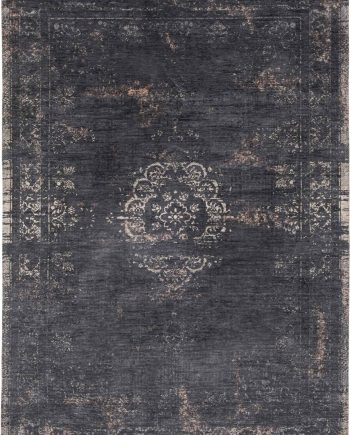 vloerkleed Louis De Poortere CA 8263 Fading World Medaillon Mineral Black