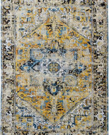 vloerkleed Louis De Poortere CA 8704 Antiquarian Antique Heriz Amir Gold